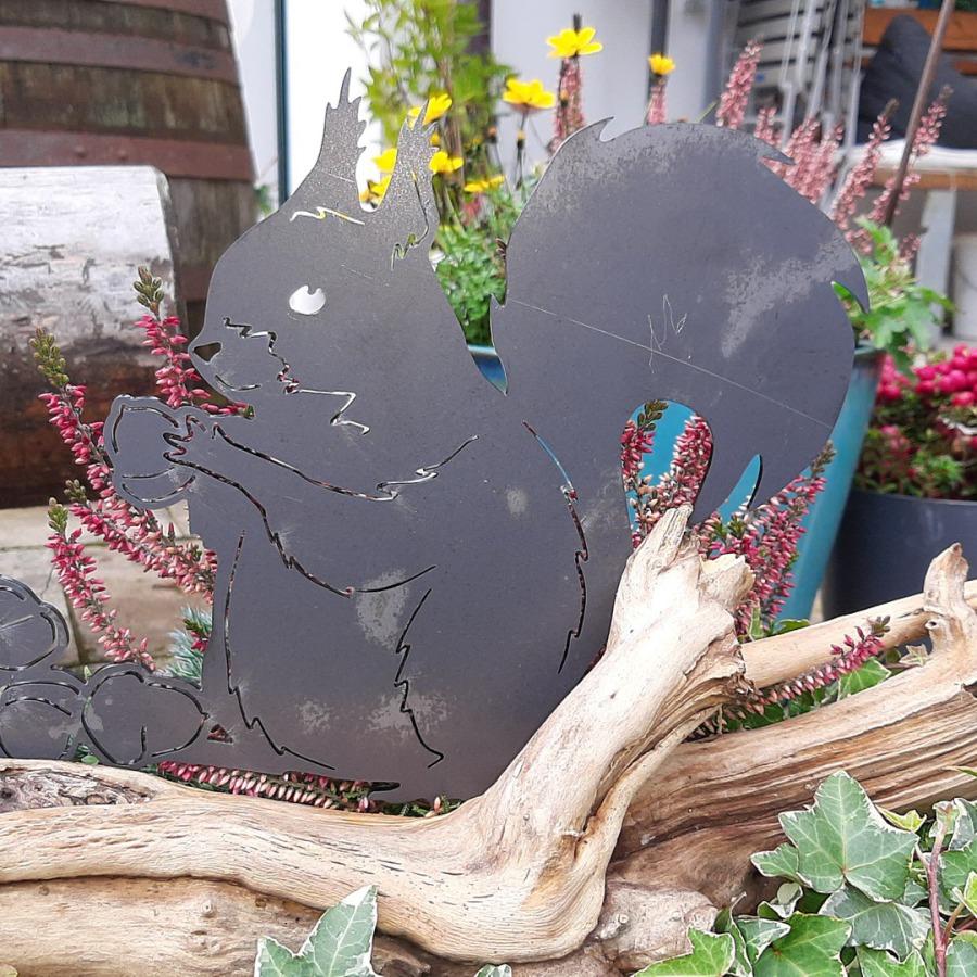 kleiner Schmetterling rostiger Stahl Edelrost