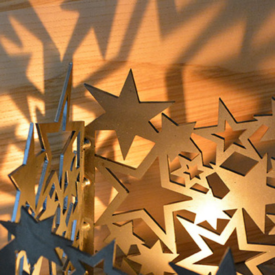Windlicht Sterne