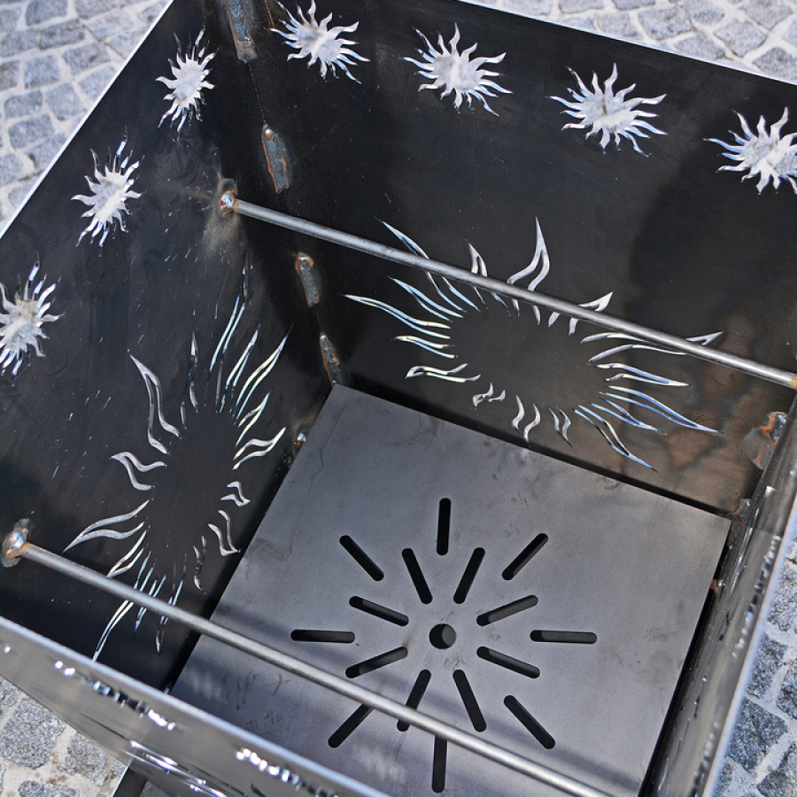 Feuerkorb Sonne/Edelrost